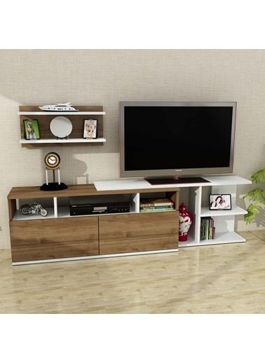 Dekorister Beste Tv ünitesi Beyaz-Ceviz Renkli